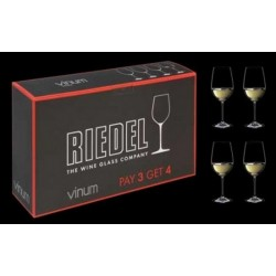 RIEDEL - 7416 VINUM GIFT PACK WHITE WINE (4Pcs) PAY 3 GET 4