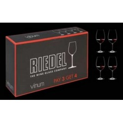RIEDEL - 7416 VINUM GIFT PACK RED WINE (4Pcs) PAY 3 GET 4